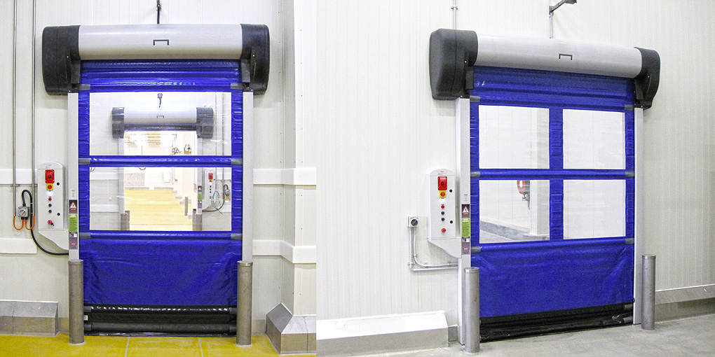 Multi-composite high-speed flexible doors for insulation panels