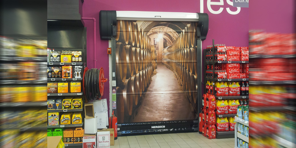 High-speed flexible door for superstores