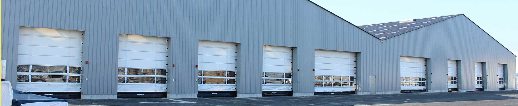 Fast acting doors for exterior