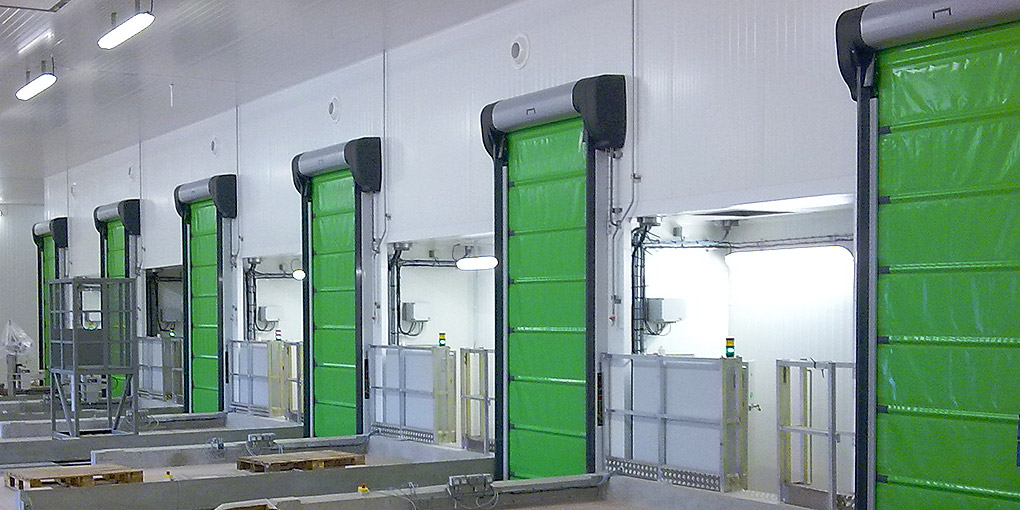 High-speed freezer doors