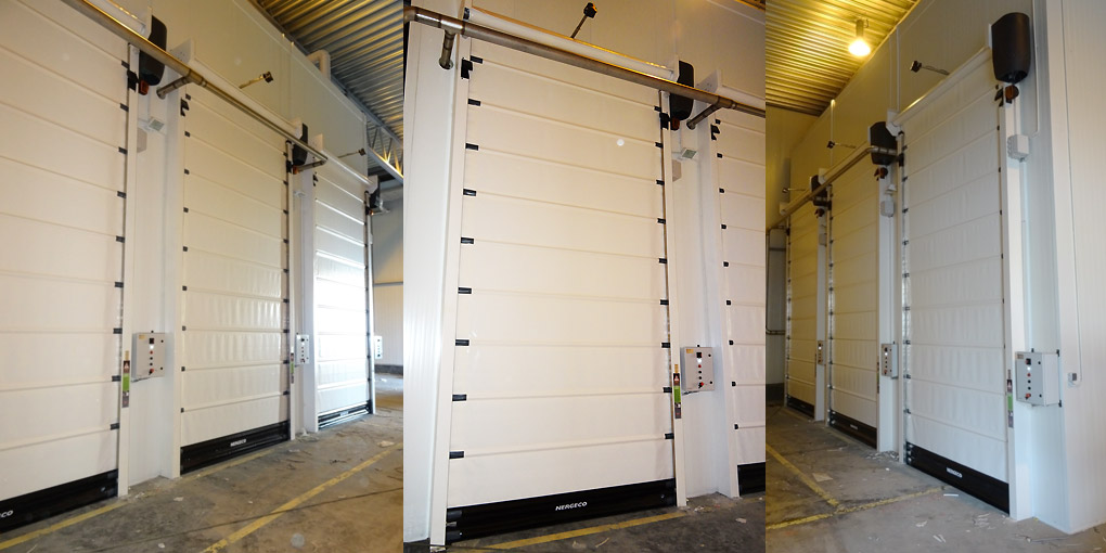 High-speed cold storage doors at Smithfield Foods