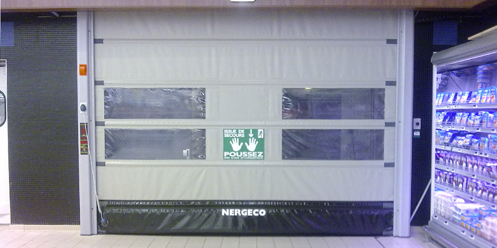 High-speed Emergency Exit door with composite frame for public access buildings