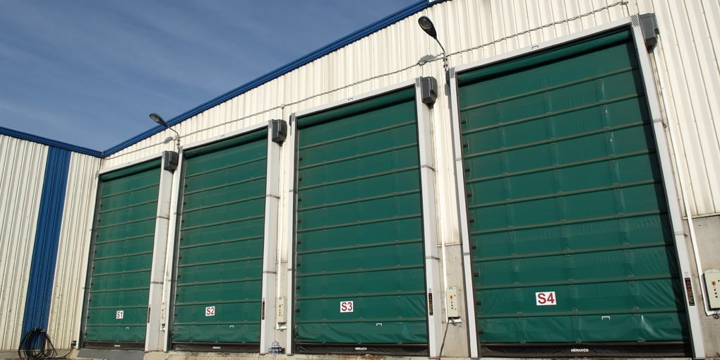 Industrial high-speed doors in composting plant